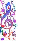 Colorful music background. Illustration of  Colorful music background Stock Images