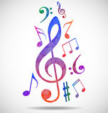 Colorful music background. Illustration of  Colorful music background Royalty Free Stock Photo