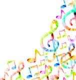 Colorful Music Background Stock Photo
