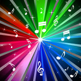 Colorful Music Background Means Beams Light And Songs Stock Photography