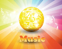 Colorful music background. Royalty Free Stock Images