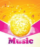 Colorful music background. Stock Images
