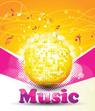 Colorful music background. Stock Image