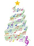 Colorful Music Christmas Tree. Isolated colorful Music Christmas Tree from white background Stock Image