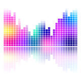 Colorful music equalizer sound wave isolated.  Stock Images