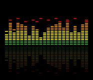 Colorful music equalizer. Vector illustration. stock illustration