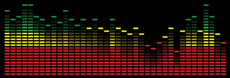 Colorful music equalizer - vector image Stock Image