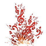 Colorful music explosion background Stock Images