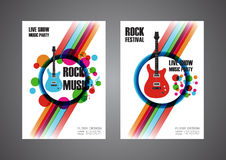 Colorful music festival poster Stock Photos