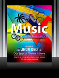 Colorful Music Flayer Design Stock Images