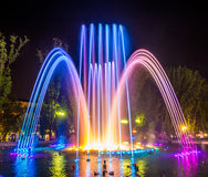 Colorful music fountains Royalty Free Stock Image
