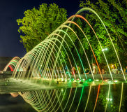 Colorful music fountains Stock Photos