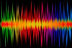 Colorful Music Graph Stock Photos