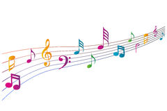 Colorful music icons Royalty Free Stock Photo