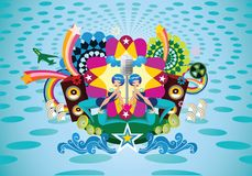 Colorful music illustration Royalty Free Stock Images