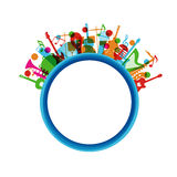 Colorful music instrument Stock Images