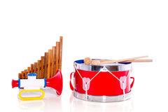 Colorful Music Instruments Stock Images
