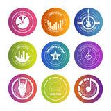 Colorful Music Labels Royalty Free Stock Photography
