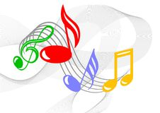 Colorful music notes Royalty Free Stock Image