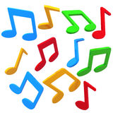 Colorful music notes Stock Images
