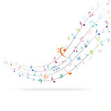 Colorful music Notes Background Stock Images