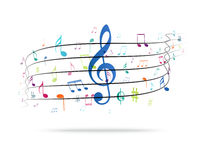 Colorful music Notes Background Royalty Free Stock Images