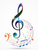 Colorful music notes background. Illustration of Colorful music notes background Stock Photos