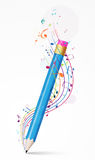 Colorful music notes background Royalty Free Stock Image