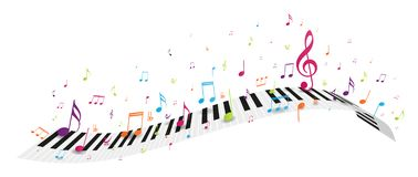Colorful music notes background vector illustration