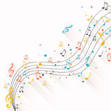 Colorful Music notes Royalty Free Stock Photo