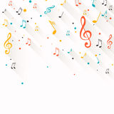 Colorful Music notes Stock Image