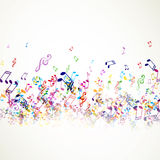 Colorful Music notes Stock Photos