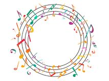 Colorful Music notes. Vector Illustration Abstract background. Royalty Free Stock Images