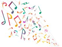 Colorful Music notes. Vector Illustration Abstract background. Stock Photo