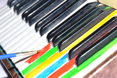 Colorful music.Piano. Stock Image