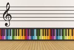 Colorful music room Royalty Free Stock Images