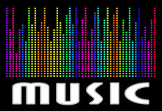 Colorful music spectrum. eps 10 vector illustration Royalty Free Stock Images