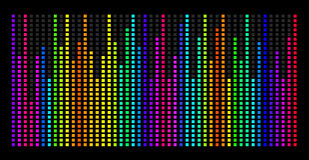 Colorful music spectrum. eps 10 vector illustration Royalty Free Stock Photos