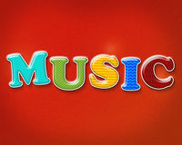 Colorful Music Theme Stock Photo