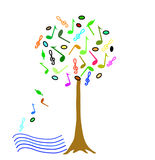 Colorful Music tree Royalty Free Stock Image