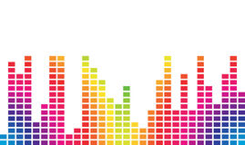 Colorful music volume Royalty Free Stock Photography