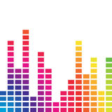 Colorful music volume. Spectrum colorful music volume bar Royalty Free Stock Photography