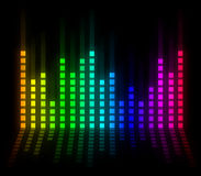 Colorful music volume Stock Photography