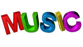 Colorful Music Royalty Free Stock Images