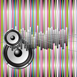 Colorful musical background Royalty Free Stock Photos