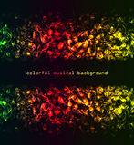 Colorful musical background Stock Image