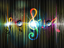 Colorful musical Background Royalty Free Stock Photography