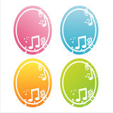 Colorful musical banners Stock Photos