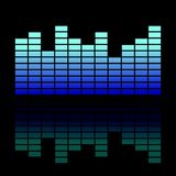 Colorful musical Equalizer showing volume on black background Equalizer icon  illustration Royalty Free Stock Photography