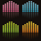 Colorful musical equalizers Royalty Free Stock Image
